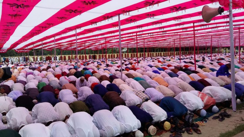 the holy Eid-ul-Fitr in Natore Eid Gah. Photo: The Daily Star